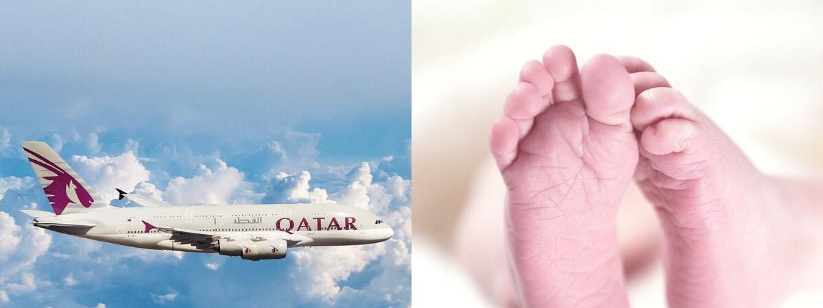 The baby was delivered with the help of five cabin crew members and a doctor onboard