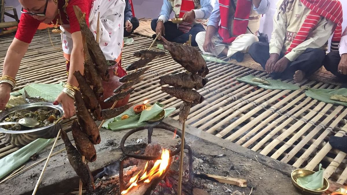 Community feasting is an integral part of Ali Aye Ligang festival of the Mising community of Assam