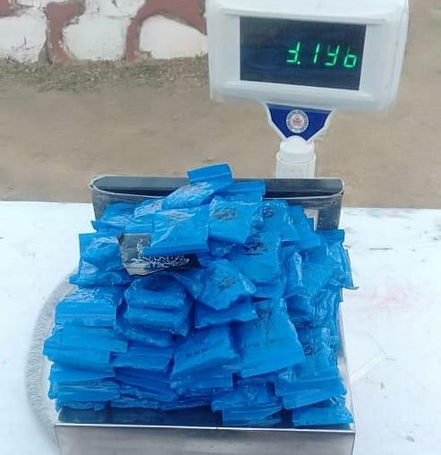 WIY tablets weighing 3.196 kg recovered in Tengnoupal on Sunday