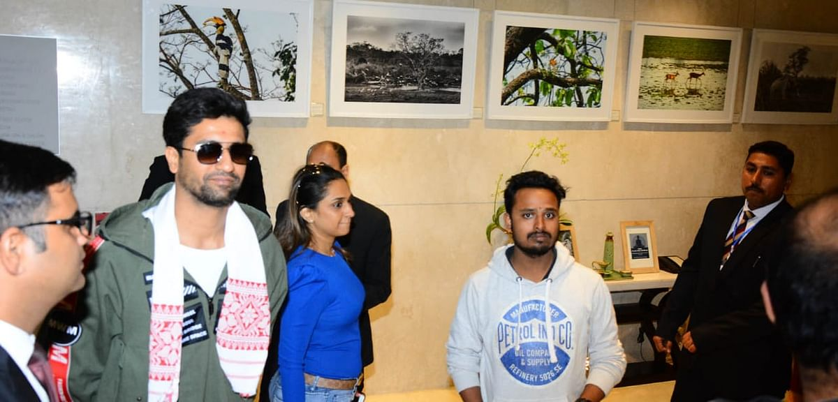 Actor Vicky Kaushal arrives in Guwahati, a day ahead of the big gala night