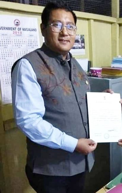 People's Democratic Alliance (PDA) candidate Sharingain Longkumer (37) has been elected as the new Speaker of the Nagaland Assembly
