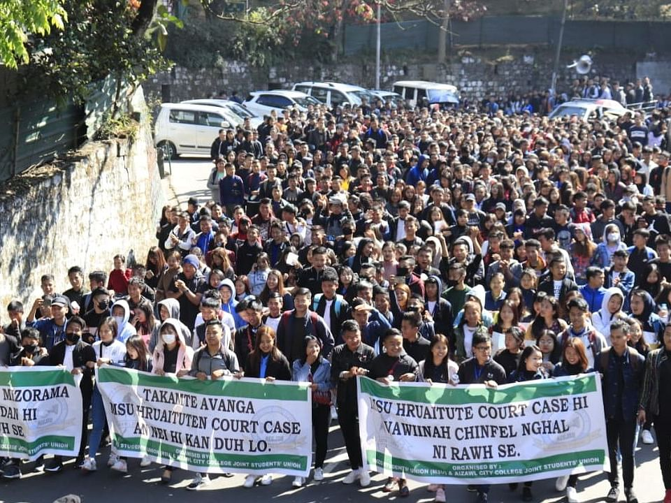 Mizo students demand dismissal of criminal charges against leaders