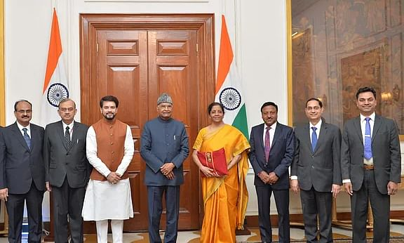 Finance minister Nirmala Sitharaman and her team meets President Ram Nath Kovind before presenting Union Budget 2020