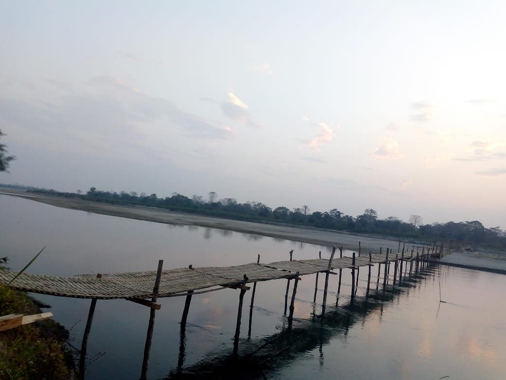 Residents of Tengapani, the last and remote village on Assam-Arunachal border, have constructed a 490-metre bamboo bridge over Na-Dihing river to connect them to the 'mainland'