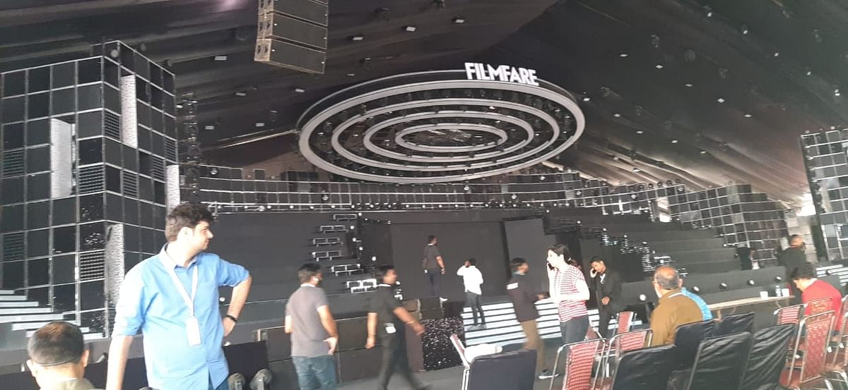 Stage for the 65th Filmfare Awards in Guwahati