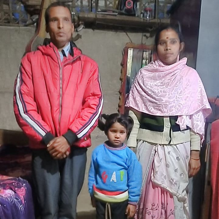 5-year old Gitanjali Baruah with her parents