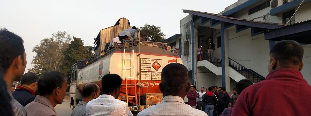 The oil tanker was seized in North Guwahati