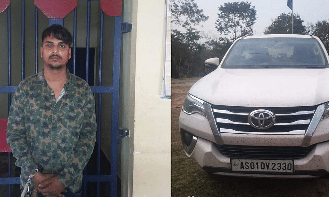 Assam police nab Delhi resident for stealing vehicle in Diphu