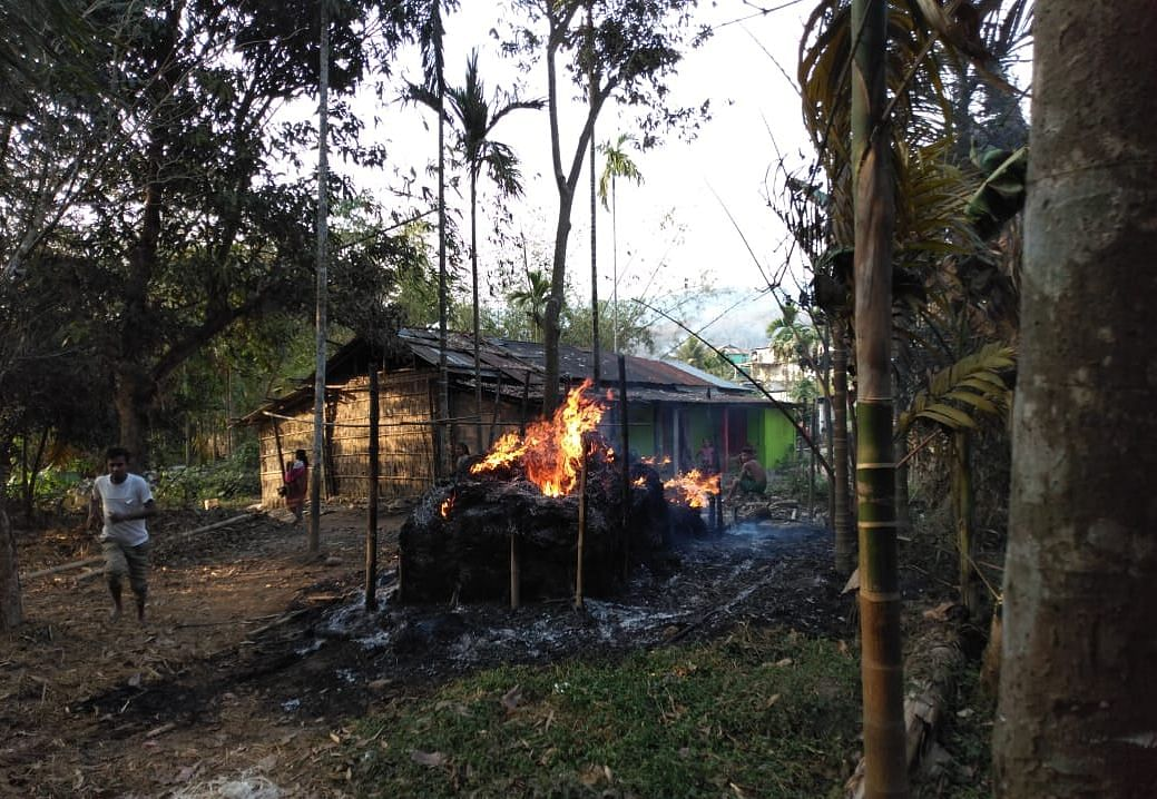 Several houses were torched following the clash in Shella area of Meghalaya's East Khasi Hills district on Friday