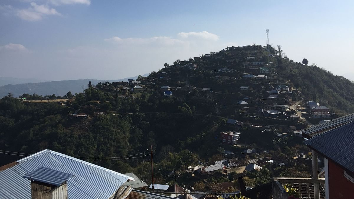 Partial view of Ringui village in Ukhrul district