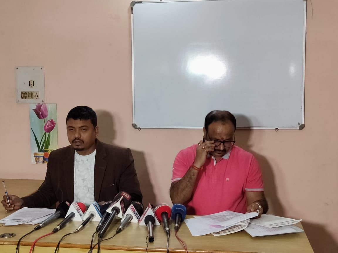 APW working president Abhijit Sarma addressing the media in Guwahati on Wednesday