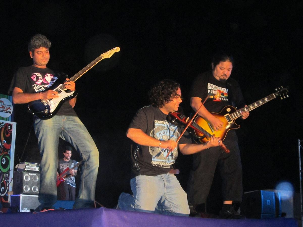 Sonam Sherpa (right) was the lead guitarist and founding member of Indian band Parikrama