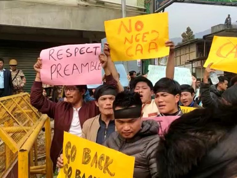 'Go back': Amit Shah greeted with anti-CAA protests in Arunachal