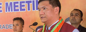 Pema Khandu on Tuesday used his Twitter and Facebook pages to announce the decision