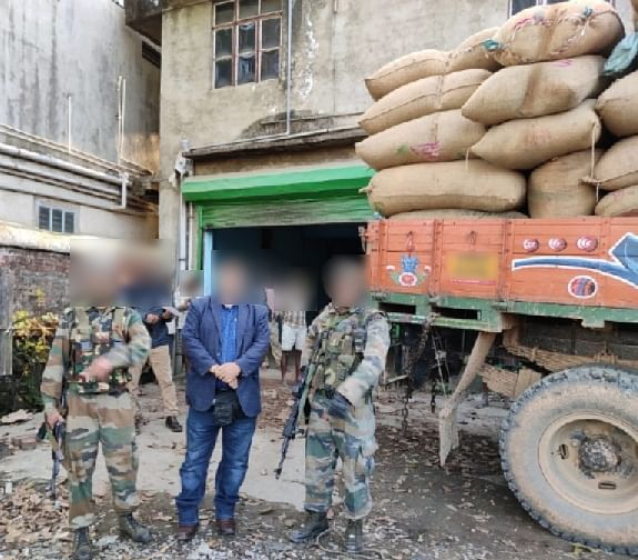 The recovered items were delivered at customs department in Imphal