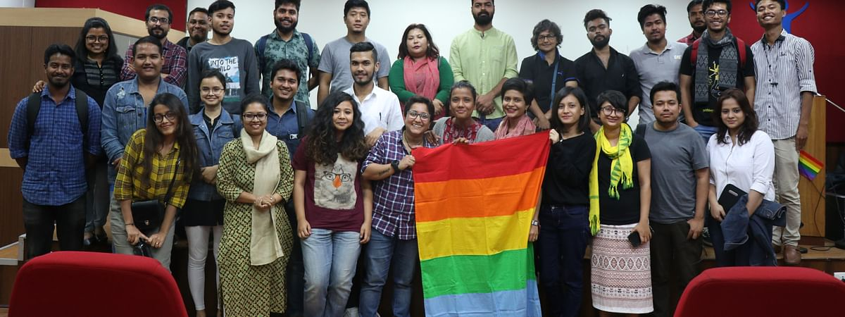 Students, scholars and professors alike took part in the film fest which was followed by sensitisation sessions on the LGBTQIA+ community
