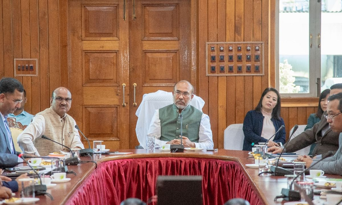 Manipur CM holds review meet ahead of Amit Shah's visit on Sunday