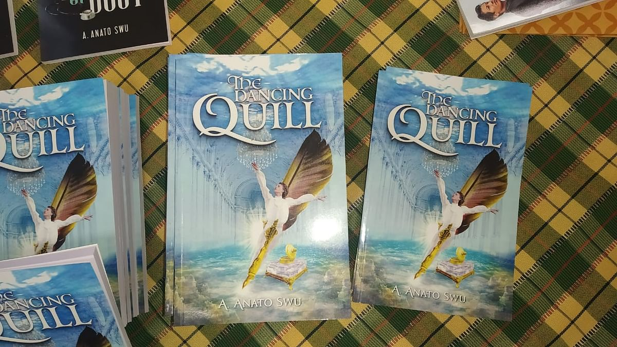 The front cover of the book 'The Dancing Quill' written by A Anato Swu