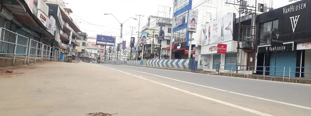 Dimapur, the commercial hub of Nagaland, under lockdown