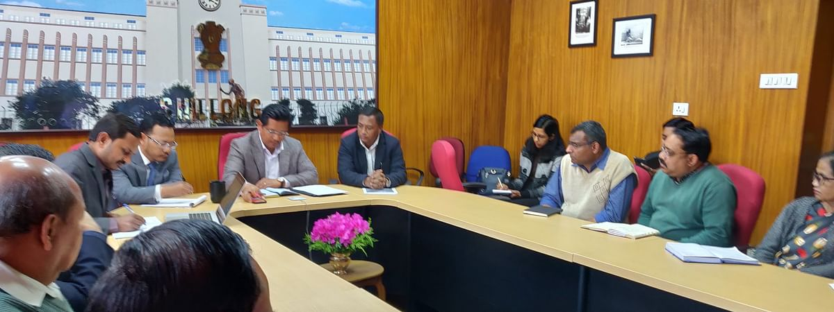 Meghalaya chief minister Conrad K Sangma taking stock of the preparedness of the districts in containing COVID-19
