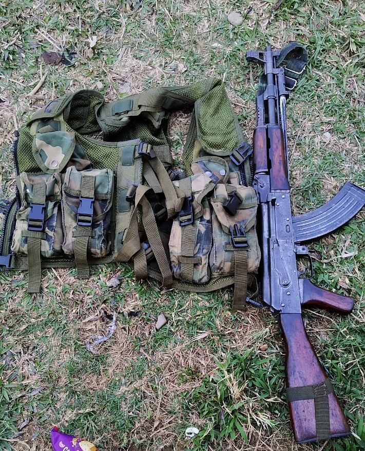 Police have rushed to the area and recovered an AK-56 rifle and ammunition from the site