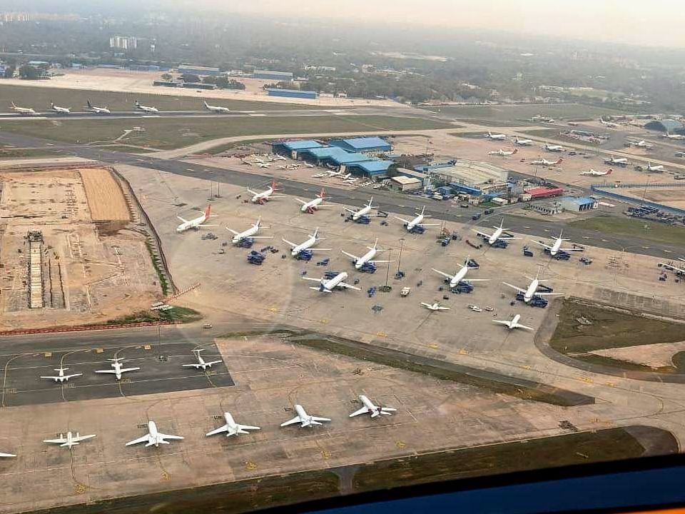 IN PHOTOS: Aircraft parked on Delhi Airport runway due to lockdown