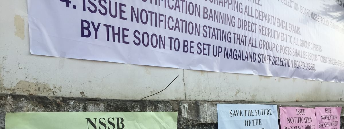 Posters demanding the setting up of NSSB in March this year