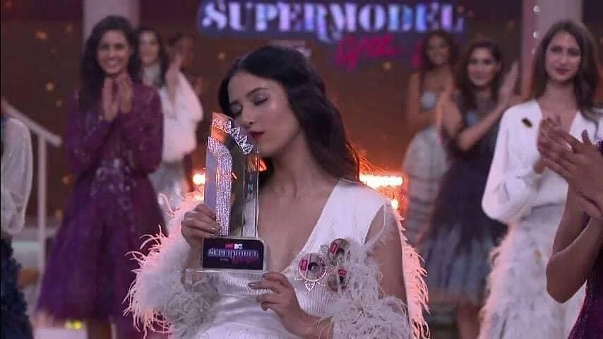 Manila Pradhan after winning the 'MTV Supermodel of the Year' title