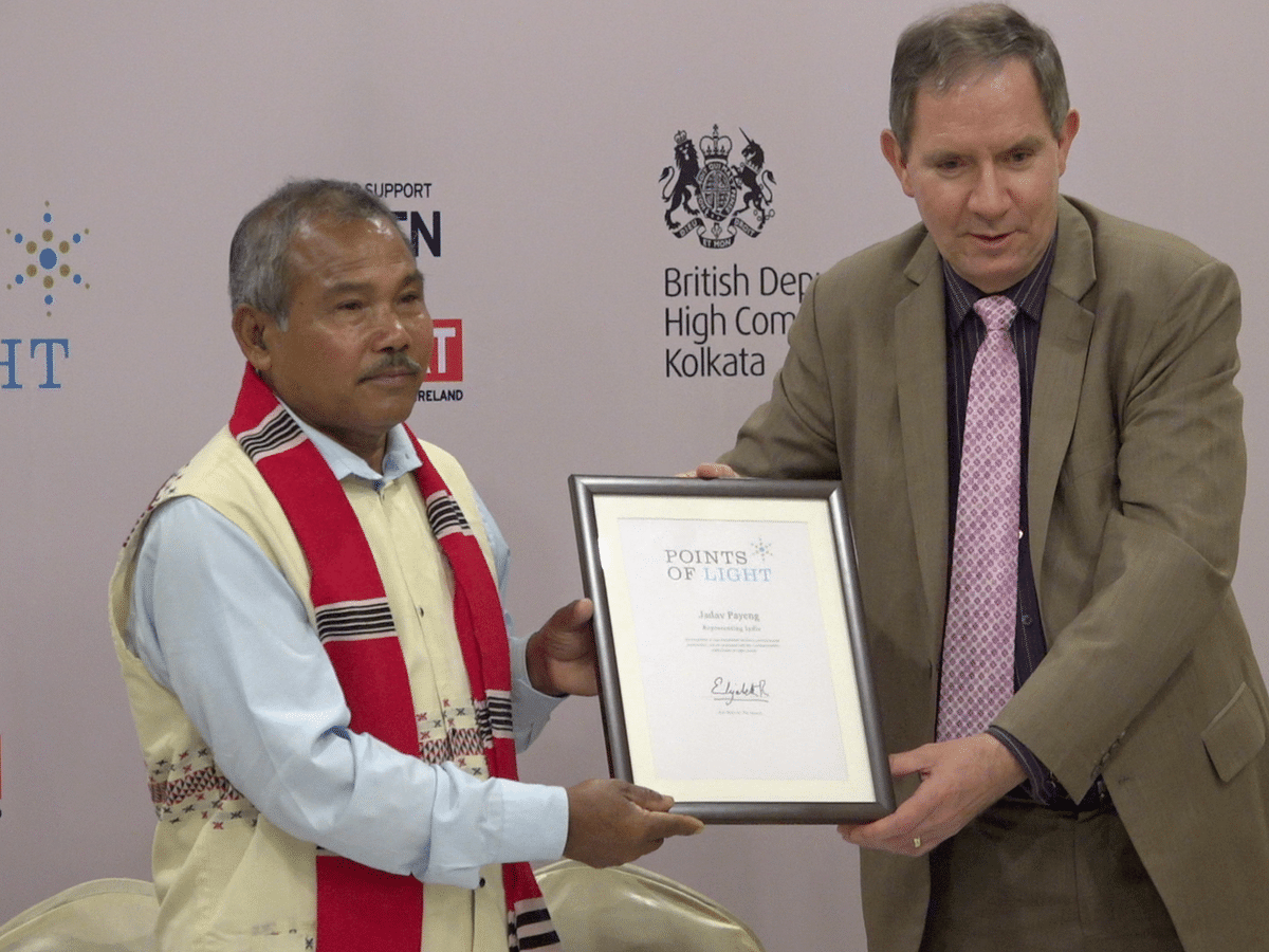 Jadav Payeng felicitated with Commonwealth Points of Light Award