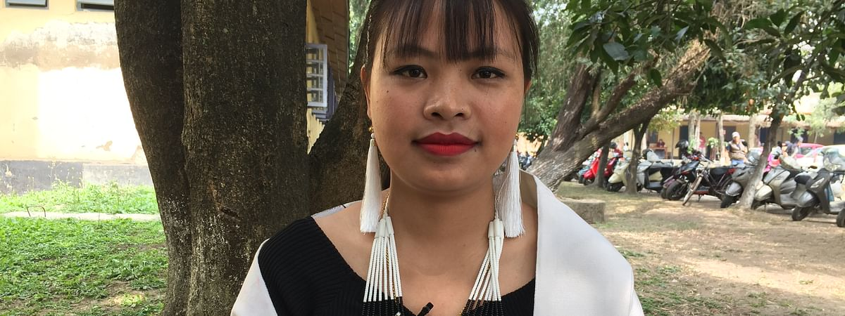27-year-old Kasii Athine, a Mao tribal folk singer, is one of the six MSKA Young Talent Awardees
