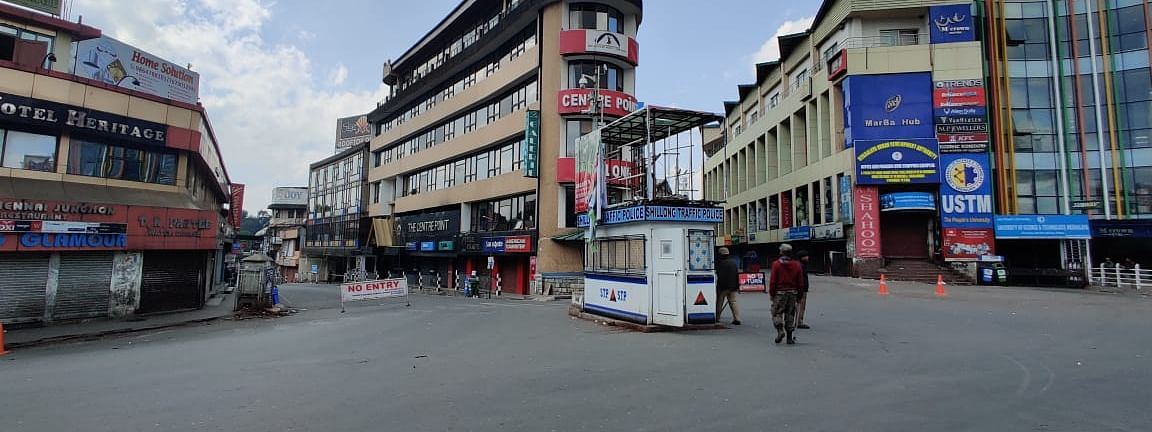 Shillong urban areas were under lockdown on July 13 & 14