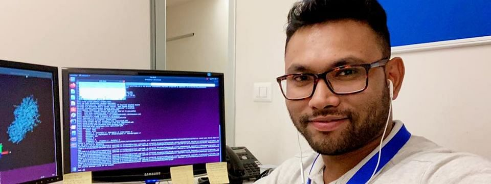Computational biologist Akash Deep Biswas is working on the novel coronavirus main protease from home in Italy