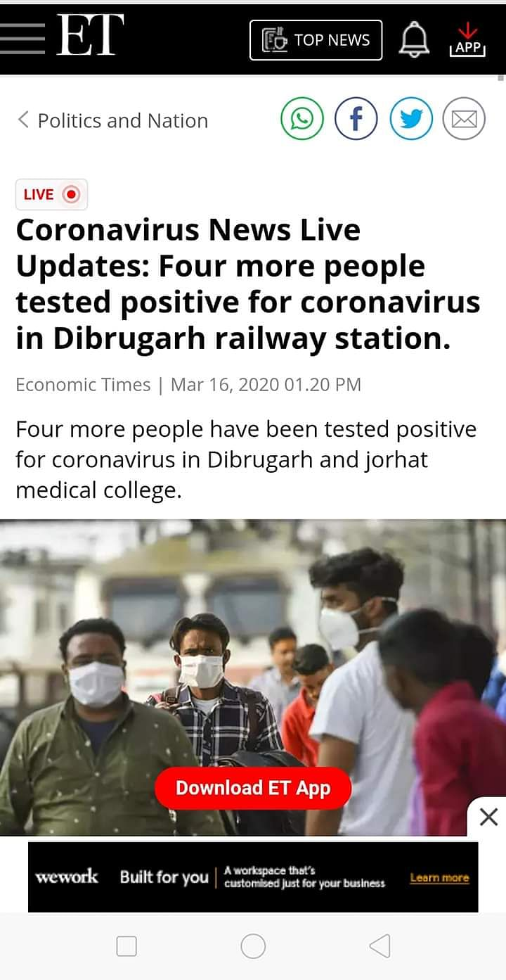 factcheck  coronavirus cases in assam u2019s jorhat  dibrugarh