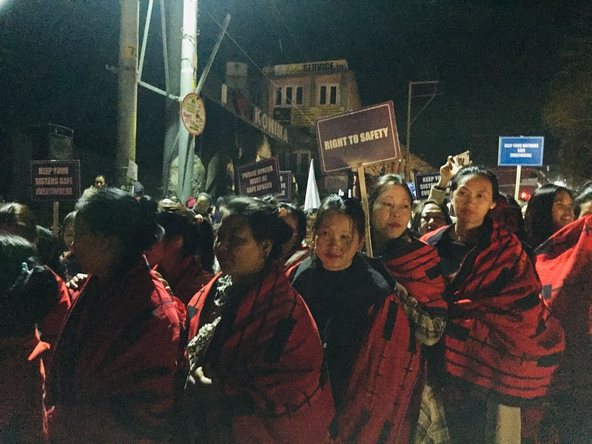 Hundreds of women from all walks of life joined the march on Sunday night