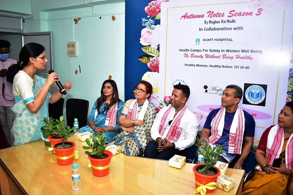 The health camp was granced by several eminent personalities