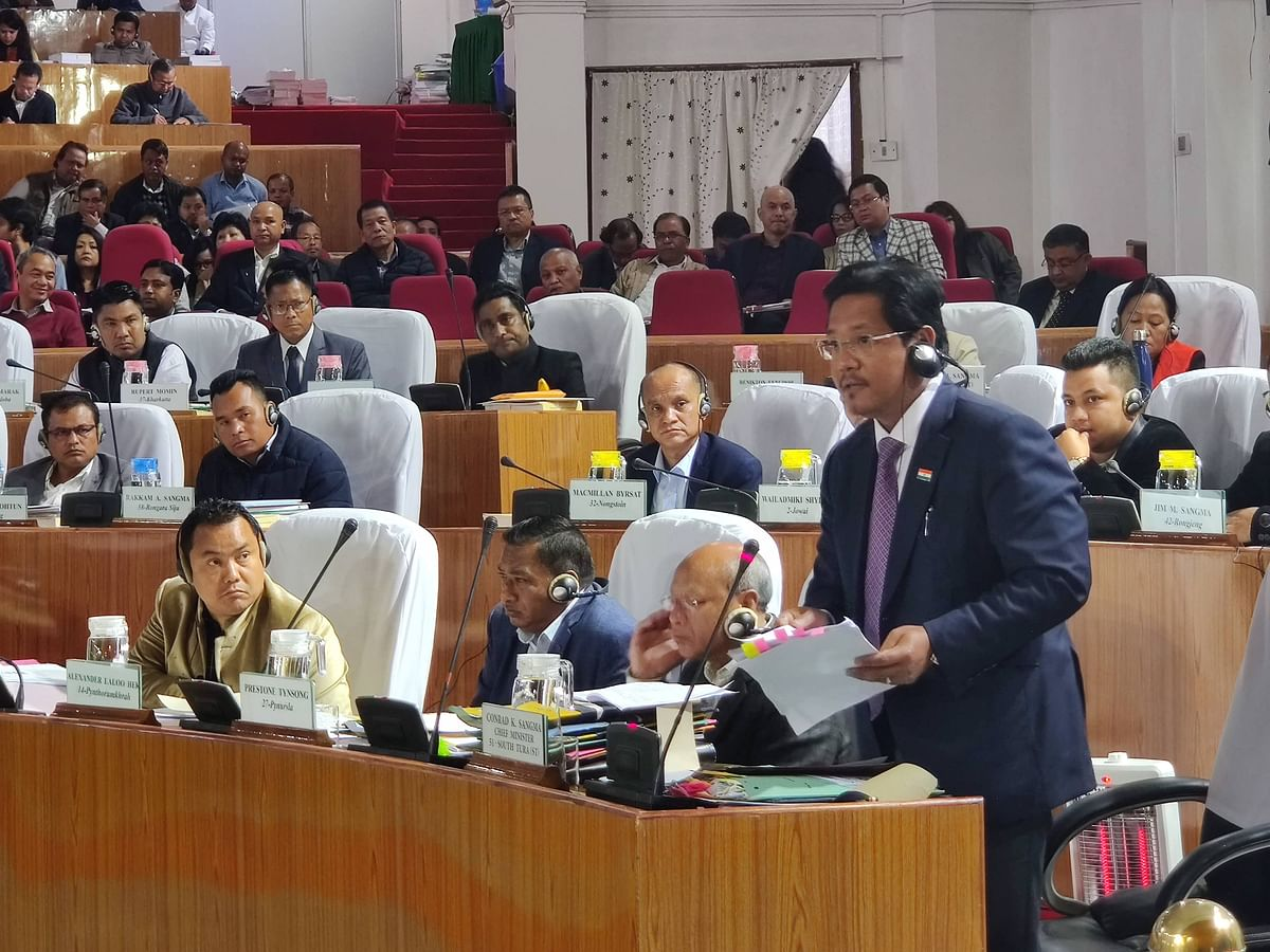 Meghalaya CM presents Rs 1,532-cr deficit budget for 2020-21
