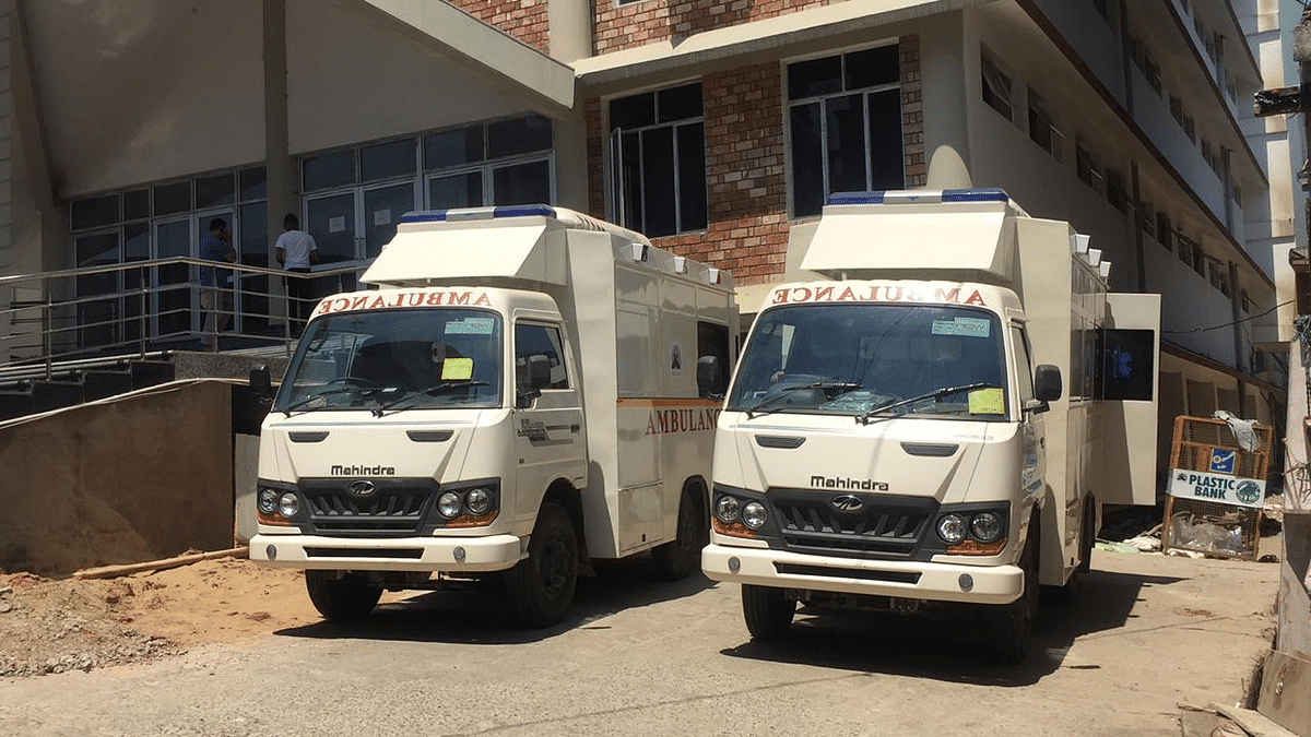 Two ambulances are ready to fight against COVID-19