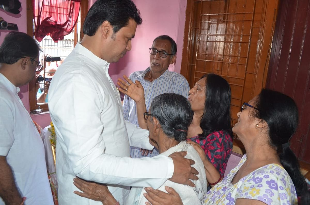 Chief Minister Biplab Deb had visited the deceased's family
