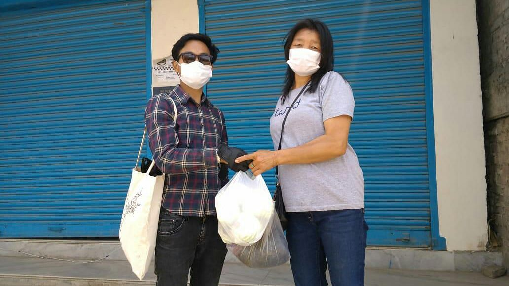 Members of WeCare provide aid, mostly shelling out from their own pockets