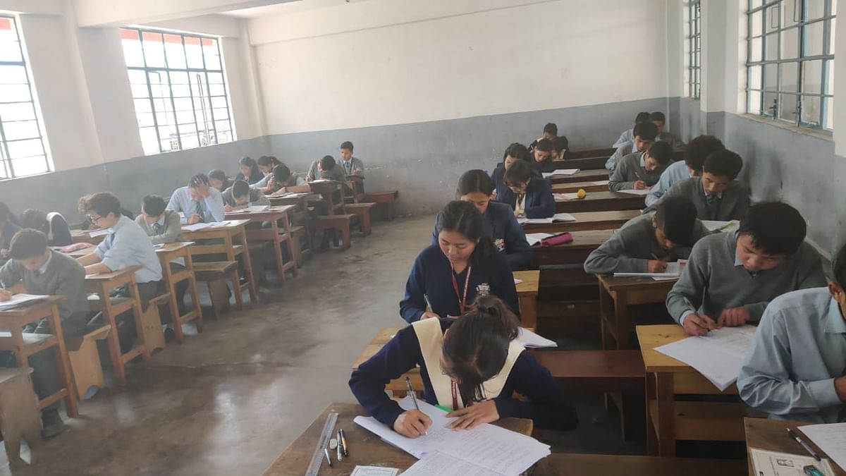 Normal attendance of students was visible in almost all the examination centres of the state