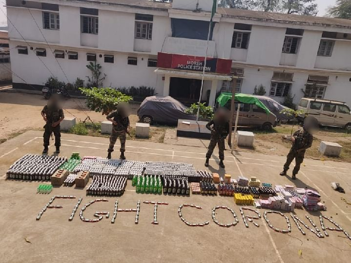 COVID-19: Huge cache of medicines, other items seized from Moreh