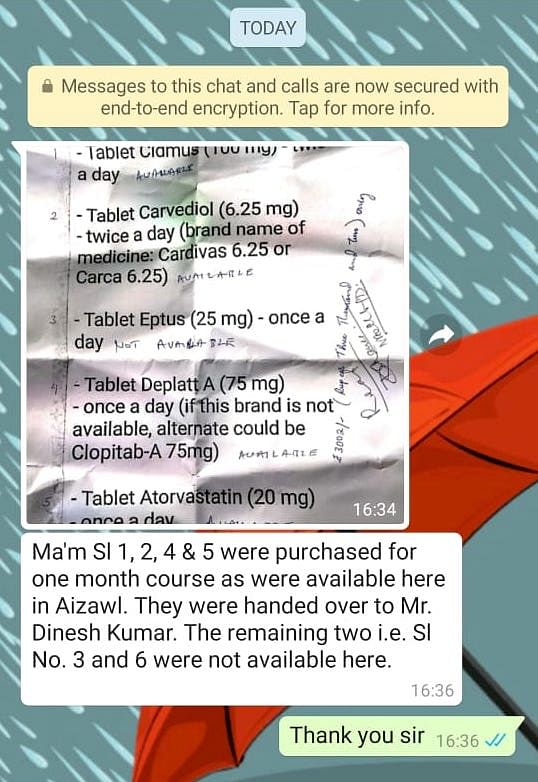 NCW following up with authorities in Mizoram to get the medicines