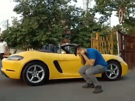 Indore man driving Porsche made to do sit-ups for not wearing mask