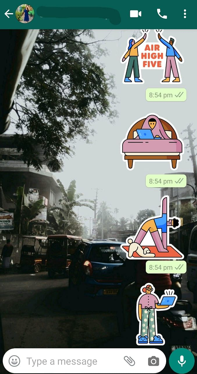 The sticker pack aptly reflects the various moods during the lockdown