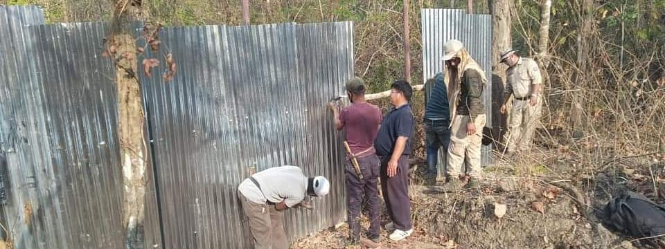 Fencing work going on along India-Myanmar border in Manipur