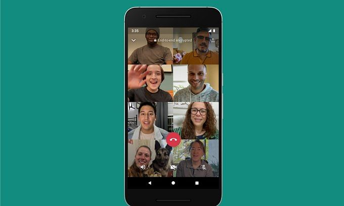 WhatsApp doubles number of participants in video calls from 4 to 8