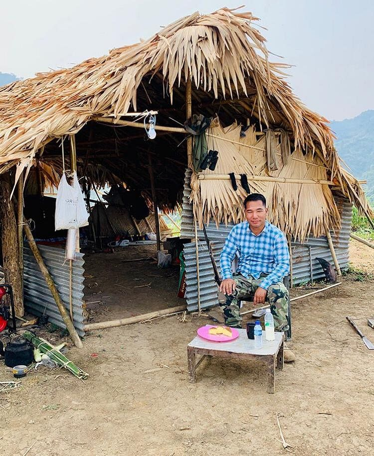 Minister Paiwang P Konyak is in self-quarantine in a small hut at his farm in Tizit under Mon district of Nagaland