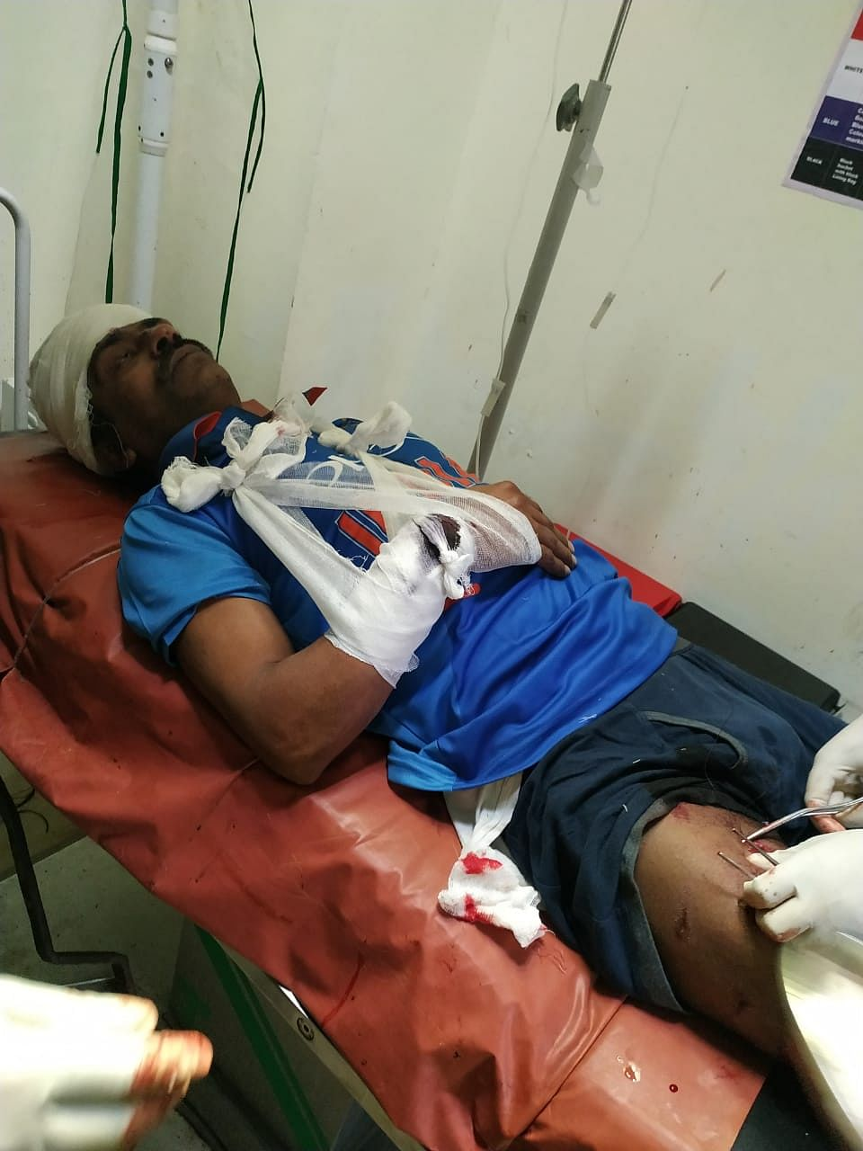 The injured man was admitted to the STNM Hospital in Gangtok