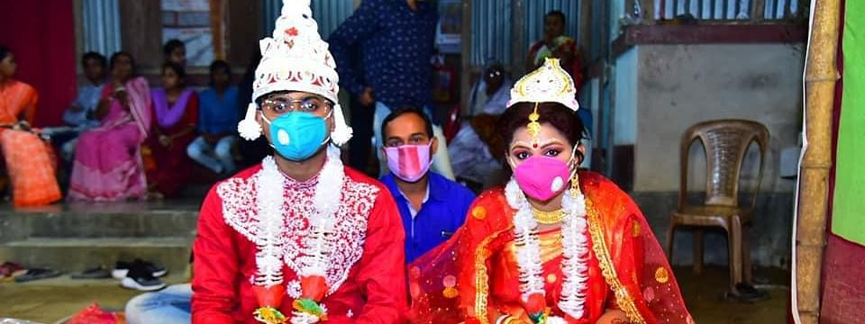 Sunny Sutradhar and Subhra Shil are the first couple to have got married amid the national lockdown in Tripura
