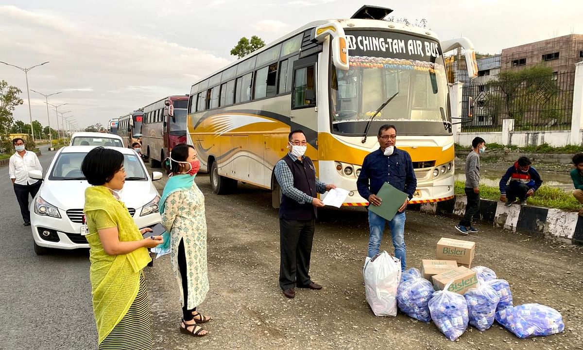 Manipur sends 4 buses to bring stranded residents from Guwahati